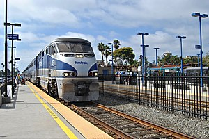 Pacific Surfliner at Oceanside (2), July 2011.jpg