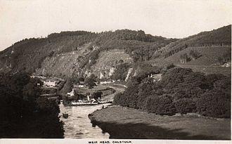 Calstock - Steamer Alexandra at Weir Head, upstream of Calstock