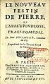 Page de titre du Nouveau Festin de pierre de Rosimond.jpg