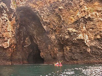 Cave - Painted Cave, a large sea cave, Santa Cruz Island, California