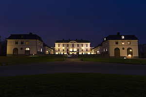 Rosersberg Palace - The palace from north west at night