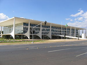 Politics of Brazil - Palácio do Planalto, the seat of the executive power.