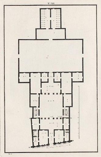 Palazzo Valmarana - Image: Palazzo Valmarana pianta B Scamozzi 1776