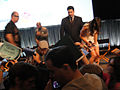 PaleyFest 2011 - Freaks and Geeks-Undeclared Reunion - Seth Rogen and Linda Cardellini sign for fans (5524464515).jpg