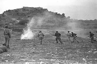 Operation Hiram - A Palmach unit attacks Sa'sa