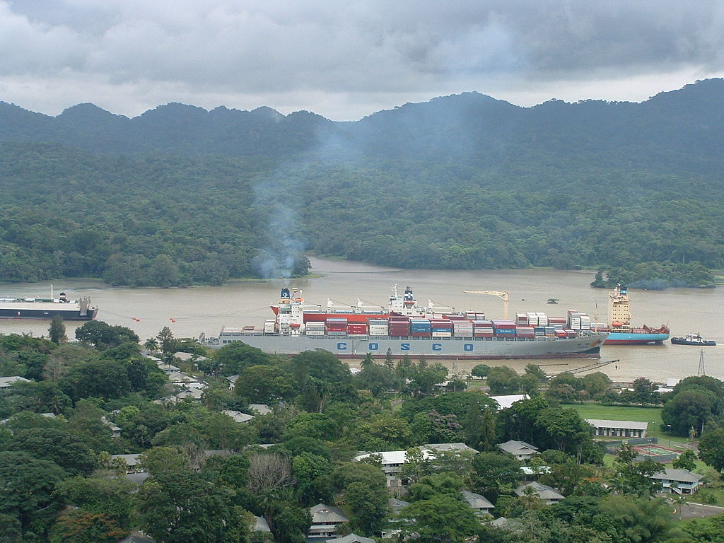 Panama Canal with Three Ship.jpg