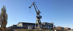 Panorama Neptunwerft crane and hall 2010-10-26.jpg