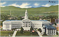 Panorama of the city and county building and portion of the civic center from the capitol dome, Denver, Colorado (7725175274).jpg