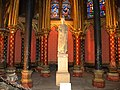 Paris, France. SAINTE-CHAPELLE. Saint Louis statue (PA00086001).jpg