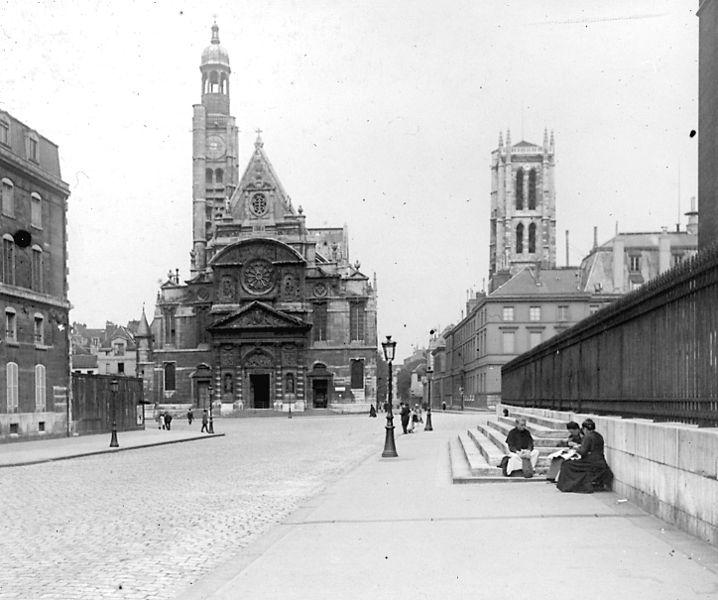 Fichier:Paris - Eglise Saint Etienne du Mont - 1912.jpg