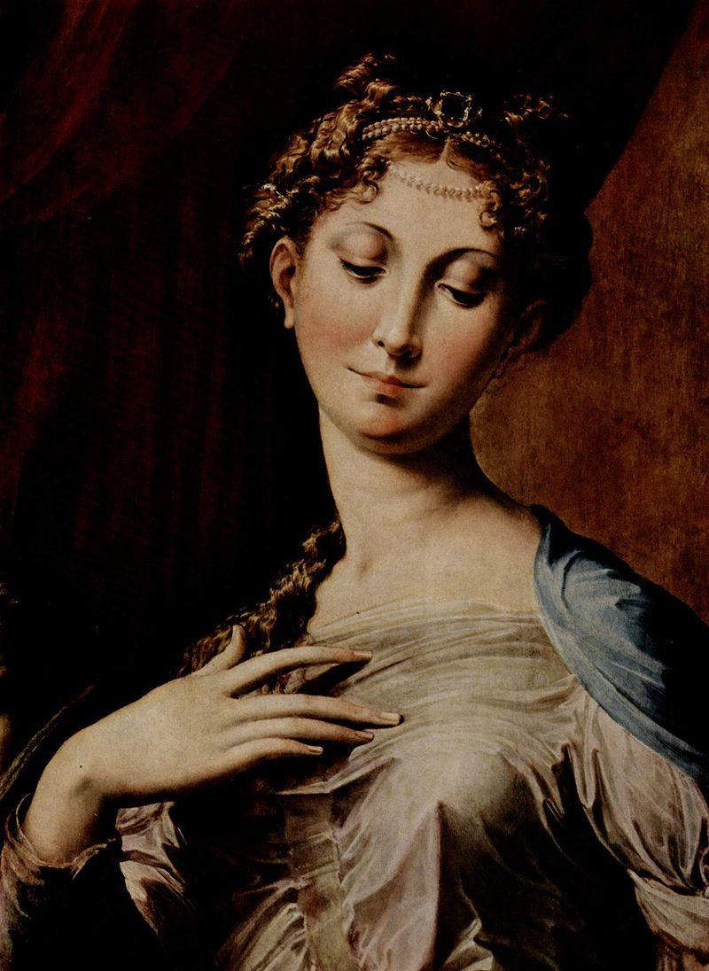 La Vierge au long cou, détail