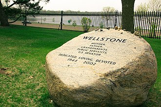 Paul Wellstone - Paul and Sheila Wellstone memorial, Lakewood Cemetery, Minneapolis, Minnesota