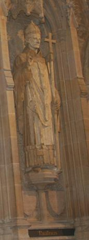 Paulinus of York - Statue of Paulinus at Rochester Cathedral