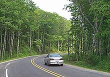 Photograph of a curve along