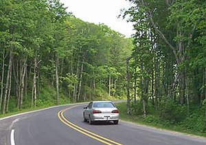 H-58 (Michigan county highway) - Image: Paved H58 curve