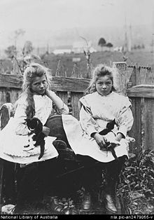 Childhood photo of Corkhill sisters.