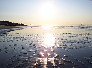 Pendine Sands beach in Carmarthenshire, Wales
