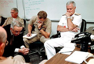 Gordon R. England - England at the Pentagon during the September 11 attacks in 2001.