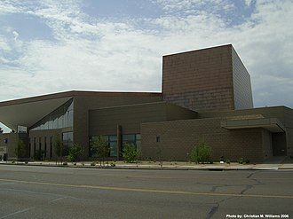 Peoria Center for the Performing Arts - Peoria Center for the Performing Arts as seen from Peoria Ave.