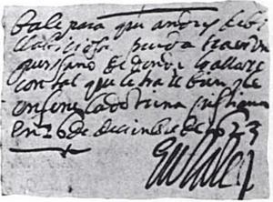 Juan Álvarez de Eulate y Ladrón de Cegama - Permit issued on 16 December 1623 by Juan de Eulate, governor of New Mexico, to take an orphaned Pueblo child as a servant.