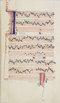 Illuminated Manuscript of the Alleluia nativitas