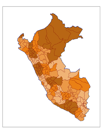 Provinces of Peru - Map of the Peruvian provinces per region