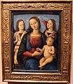 Perugino (bottega), madonna col bambino e due angeli, 1495-1500 ca..JPG
