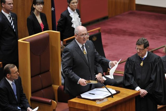 Peter Cosgrove Swearing In 2