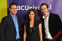 Peter Facinelli, Anna Friel & Jake Robinson at 2015 TCA