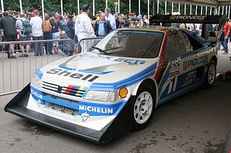 Ari Vatanen - Vatanen's Peugeot 405 T16 GR on display.