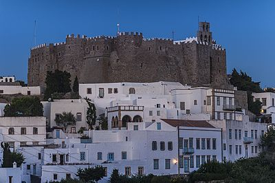 Monastery of Saint John the Theologian in Patmos, where the Book of Revelation was written Ph.Patmos Monastery-02Wiki.jpg