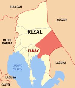 Rizal Philippines Map.Tanay Rizal Wikipedia