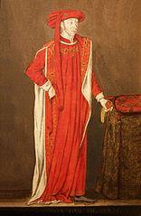 Portret Filipa Dobrego w stroju orderowym Orderu Złotego Runa