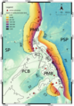 Philippine plate tectonics, volcanoes, and subducting slabs.png
