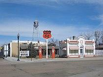 Phillips 66 station, Bassett, Nebraska, USA.jpg