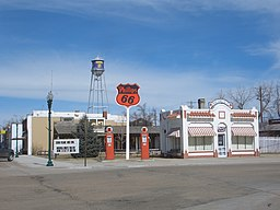 Phillips 66 station, Bassett, Nebraska, USA.jpg