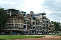 French colonial buildings in Phnom Penh