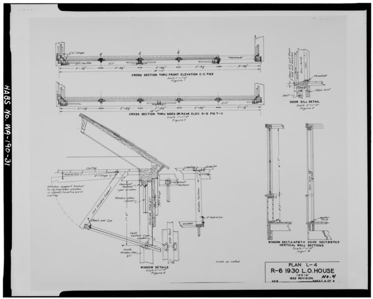 Elevation Plan And Cross Section : File photocopy of drawing standard plan l sheet