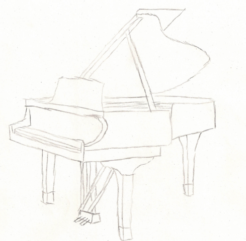 Image result for piano drawing