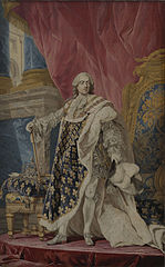 Portrait of Louis XV in his royal costume