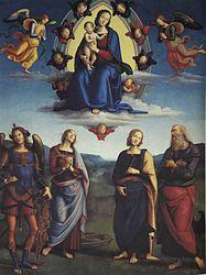 Pietro Perugino: Madonna in Glory with Saints