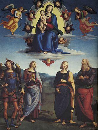 Madonna in Glory with Saints - Image: Pietro Perugino cat 59