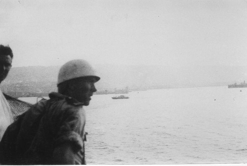 קצין בריטי על סיפון האקסודוס