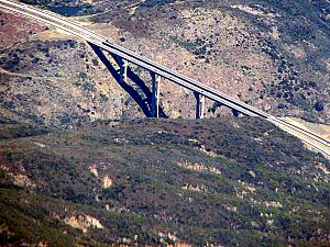 Pine Valley Creek Bridge - Aerial view from a commercial jet