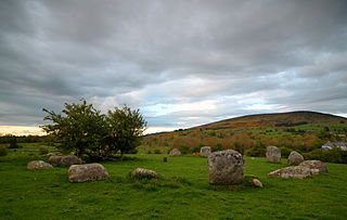 Pipers Stones Bronze Age stone circle in Ireland