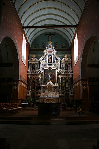 Pierre Corbineau - The altarpiece of the main altar of the Saint-Pierre of Piré-sur-Seiche church, representative of the Laval school.