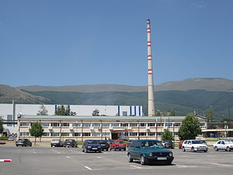 Sofia Province - The copper smelter in Pirdop