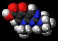 Piromidic acid molecule spacefill.png