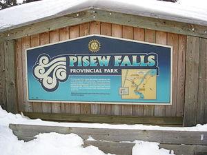 Pisew Falls Provincial Park - Pisew Falls park entrance.