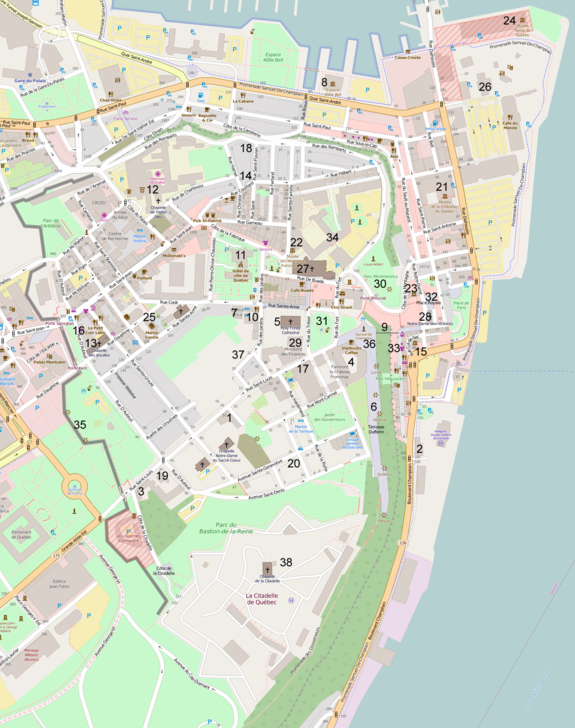 Map of Vieux-Québec
